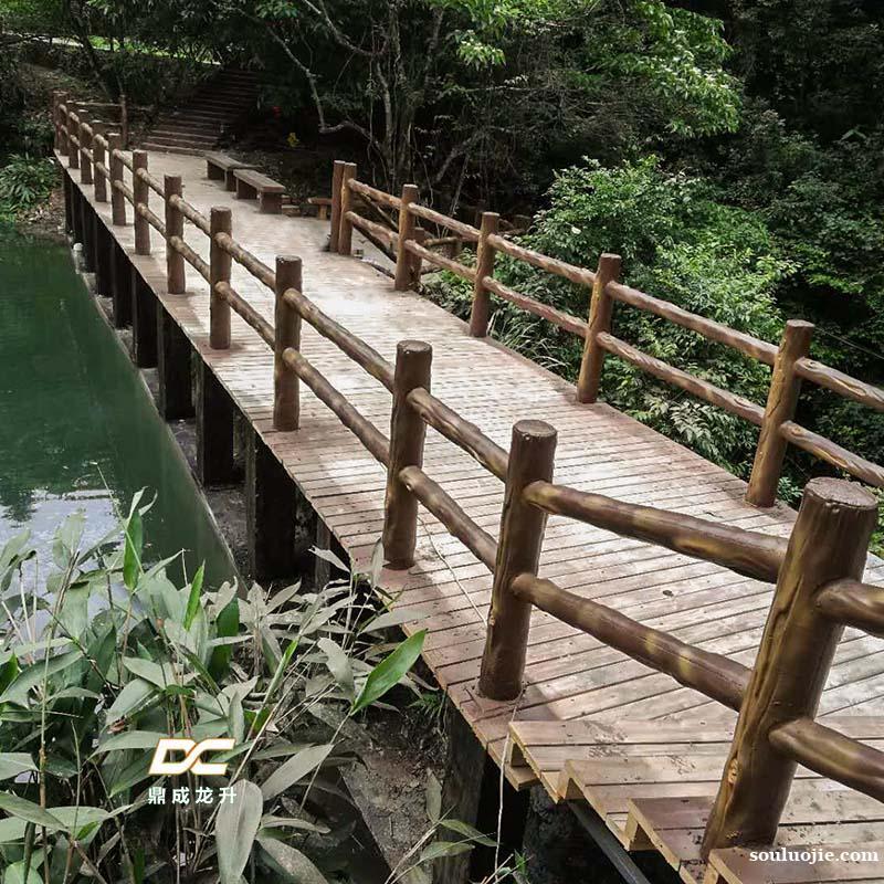 水泥护栏 仿木护栏